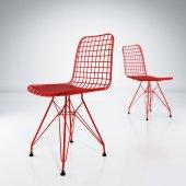 Knsz kafes tel sandalyesi 1 li mazlum krmkrm ofis cafe bahçe mutf-5