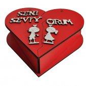 Seni Seviyorum Kalpli Açılan Kırmızı Hediyelik Kutu