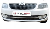 Spider Skoda Octavıa A7 (2013) Ön Tampon Çıtası Krom (13 17) (Mk.sız Kasa)