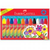 Faber Pastel Boya 12 Renk Fosforlu