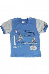 Ertuğ Rowing Baskılı Erkek Çocuk Kısa Kollu Tişört