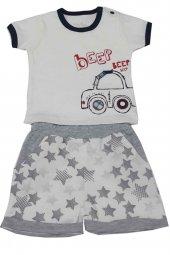 For My Baby The Car Şortlu Kısa Kollu Erkek Bebek Takımı