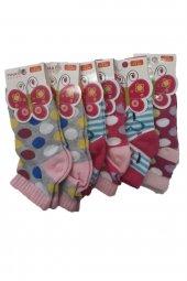 Ertuğ Kız Çocuk Patik Kısa Çorap 6 Lı Paket Asorti