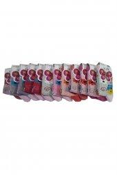 Ertuğ Kız Çocuk Baskılı Soket Çorap 12 Li Paket Asorti