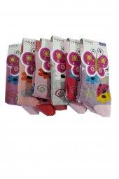 Ertuğ Kız Çocuk Baskılı Soket Çorap 6 Lı Paket Asorti