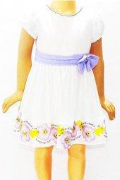 Himm Lila Astarlı Kız Çocuk Elbise