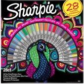Sharpie Fine Permanent Markör 28li Tavuskuşu