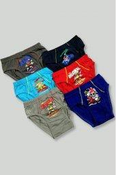 Tutku İç Giyim Erkek Çocuk Desenli Slip Külot 3 Lü Paket