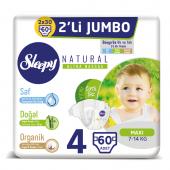 Sleepy Natural Bebek Bezi 4 Numara Maxi 2li Jumbo (7 14 Kg)