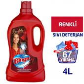 Bingo Renkli Sıvı Bakım Çamaşır Deterjanı 4 L...