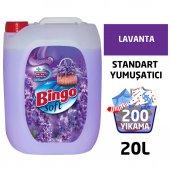 Bingo Soft Çamaşır Yumuşatıcısı Lavanta Rüzgarı 5 L Ekonomi Paketi 4lü