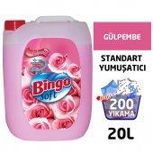 Bingo Soft Çamaşır Yumuşatıcısı Gülpembe 5 L Ekonomi Paketi 4lü