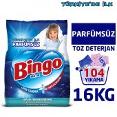 Bingo Matik Toz Çamaşır Deterjanı 4 kg Parfümsüz 4lü