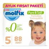 Molfix Pure&soft 5 Beden Junior Aylık Fırsat Paketi 88 Adet