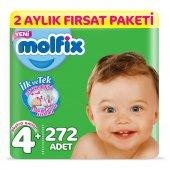 Molfix 3D Bebek Bezi Beden 4+ MaxiPlus 2 Aylık Fırsat Paketi 272 Adet