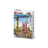 Sluban B0555 Construction Kule Vinç 1461 Parça