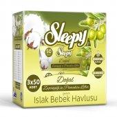 Sleepy Zeytinyagli 3*50 İslak Havlu