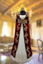 Kadife Özel Dikim Bindallı Kına Elbisesi