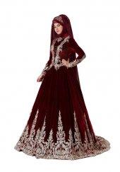Tesettür Modeli Bindallı Kına Elbisesi Lavin