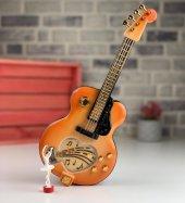 Nostaljik Gitar Görünümlü Balerinli Müzik Kutusu