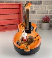 Nostaljik Gitar Görünümlü Balerinli Müzik Kutusu-3