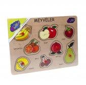 Playwood Meyveler Ahsap Tutmali Egitici Puzzle