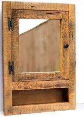 Qtük Ağaç Raflı Aynalı Dolap 70x50cm