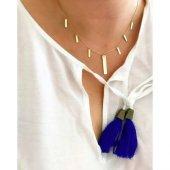 14 Ayar Altın Kolye Çoklu Sembol Tasarımlı Moda Kolye