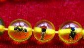 Kehribar tesbih karınca fosilli kehribar tesbih kuka Oltu tesbih-4
