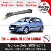 Hyundai Getz Ön + Arka Silecek Takımı (2002-2011) İnwells Muz