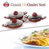 Taç Granit 3 Lü Omlet Set (18,20 Ve 22 Cm)