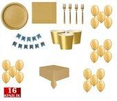 Gold Altın Doğum Günü Parti Malzemeleri Süsleri...