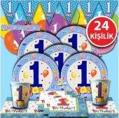 1 Yaş Mavi Doğum Günü Parti Malzemeleri Süsleri...