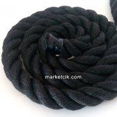 2cm Dekoratif Örgülü Siyah Halat, 1 Metre Kablosuz...