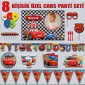 Afişli Cars Arabalar Şimşek Mcqueen Doğum Günü...
