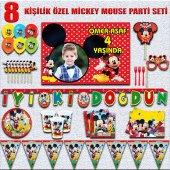 Afişli Mickeymouse Miki Doğum Günü Parti...
