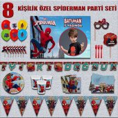 Afişli Örümcek Adam Spiderman Doğum Günü Parti...