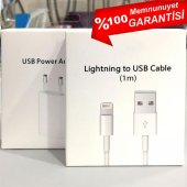 Apple İphone 5 6 7 8 X Şarj Aleti Usb Kablo Adaptör Lightning