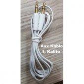 Araç İçi Aux Kablo 1mt 3.5mm Kaliteli Kablo Altın ...