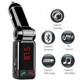 Bluetooth Araç Kiti Fm Transmitter Gsm Aux Görüşmeli İphone Samsu