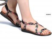 Muço Rahat Günlük 7 Farklı Renk Bayan Terlik-Sandalet-3