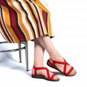 Muço Rahat Günlük 7 Farklı Renk Bayan Terlik-Sandalet-6