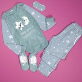 Ay Yıldız Desenli Peluş Bayan Pijama Takımı