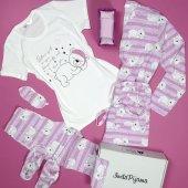 Ayıcık Desenli Sabahlıklı Pijama Takımı