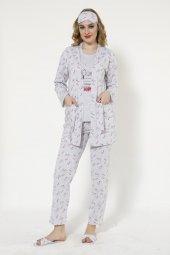 Snoopy Desenli Sabahlıklı Pijama Takımı