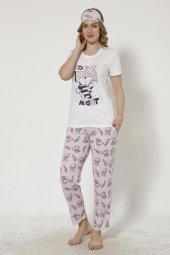 Tavşan Desenli Kısa Kollu Pijama Takımı
