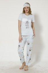 Sweet Dream Desenli Kısa Kollu Pijama Takımı