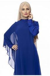 5046 Inci Detayli Elbise - Saks-2