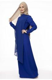 5046 Inci Detayli Elbise - Saks-3
