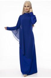 5046 Inci Detayli Elbise - Saks-4